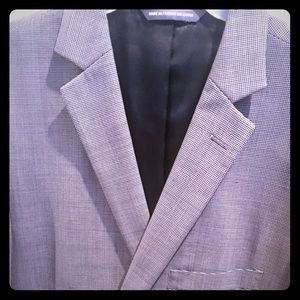 PERRY ELLIS black and white checked suit jacket